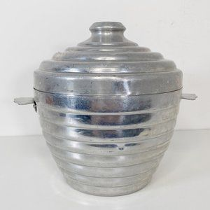 Vintage Aluminum Ice Bucket Made in Italy
